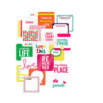 Becky Higgins - Project Life - Confetti Edition Collection - Card Pack - 4 x 4 - Instagram