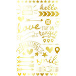 Becky Higgins - Project Life - High Five Edition Collection - Rub Ons - Gold Foil