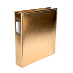 Becky Higgins - Project Life - Classic Leather - 6 x 8 Two Ring Album - Gold