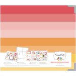 Becky Higgins - Project Life - Baby Girl Edition Collection - Album - 12 x 12 D-Ring - Matte Paper