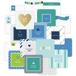 Becky Higgins - Project Life - Baby Boy Edition Collection - Card Pack - 4 x 4 - Instagram