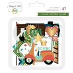 Becky Higgins - Project Life - Explore Edition Collection - Ephemera with Foil Accents