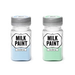 Imaginisce - Milk Paint - 2 Pack - Pastel Blue and Pastel Green