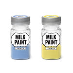 Imaginisce - Milk Paint - 2 Pack - Blue and Yellow