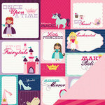 Imaginisce - Little Princess Collection - 12 x 12 Double Sided Paper - Once Upon A Time