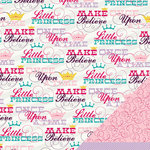 Imaginisce - Little Princess Collection - 12 x 12 Double Sided Paper - Little Princess