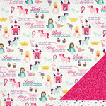 Imaginisce - Little Princess Collection - 12 x 12 Double Sided Paper - Happily Ever After