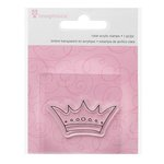 Imaginisce - Little Princess Collection - Snag 'em Acrylic Stamps - Crown