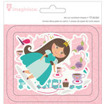 Imaginisce - Little Princess Collection - Die Cut Cardstock Pieces - Shapes - One