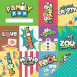 Imaginisce - Family Fun Collection - 12 x 12 Double Sided Paper - Good Times