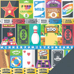 Imaginisce - Family Fun Collection - 12 x 12 Double Sided Paper - Cut and Paste