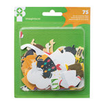 Imaginisce - Family Fun Collection - Die Cut Cardstock Shapes - Paper Guy