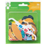 Imaginisce - Family Fun Collection - Die Cut Cardstock Shapes - Paper Girl