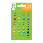 Imaginisce - Family Fun Collection - Adhesive Enamel Dots