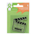 Imaginisce - Family Fun Collection - Snag 'em Acrylic Stamps - Movie