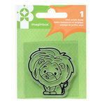 Imaginisce - Family Fun Collection - Snag 'em Acrylic Stamps - Lion