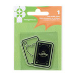 Imaginisce - Family Fun Collection - Snag 'em Acrylic Stamps - Playing Cards