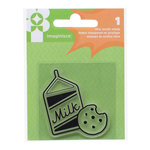 Imaginisce - Family Fun Collection - Snag 'em Acrylic Stamps - Milk and Cookies