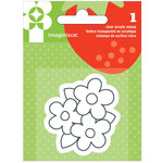 Imaginisce - Heartland Farm Collection - Snag 'em Acrylic Stamps - Flower