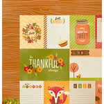 Imaginisce - Give Thanks Collection - 12 x 12 Double Sided Paper - So Thankful