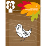 Imaginisce - Give Thanks Collection - Snag 'em Acrylic Stamps - Bird