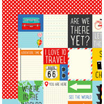 Imaginisce - Happy Traveler Collection - 12 x 12 Double Sided Paper - Roadtrip