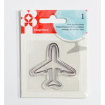 Imaginisce - Happy Traveler Collection - Snag 'em Acrylic Stamps - Plane