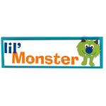 American Crafts - Remarks - 3 Dimensional Title Stickers with Varnish Accents - Lil Monster