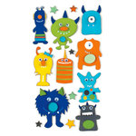 American Crafts - Remarks - 3 Dimensional Stickers with Googly Eyes Accents - Googly