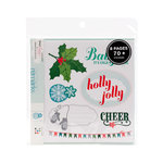 American Crafts - Dear Lizzy Christmas Collection - Remarks - Sticker Book - Mistletoe