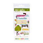 American Crafts - City Park Collection - Remarks - Sticker Sheets - Trail - Phrases, CLEARANCE