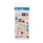 American Crafts - Confetti Collection - Remarks - 3 Dimensional Stickers - Musical Chairs Numbers