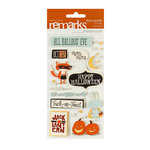American Crafts - Nightfall Collection - Halloween - Remarks - 3 Dimensional Stickers - Jack-O-Lantern