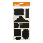 American Crafts - Nightfall Collection - Halloween - Stickers - Chalk Labels - Basic