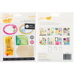 American Crafts - Amy Tangerine Collection - Sketchbook - Remarks - Sticker Book - Accents and Phrases - Palette