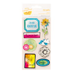 American Crafts - Amy Tangerine Collection - Sketchbook - Remarks - 3 Dimensional Stickers - Doodle