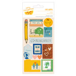 American Crafts - Amy Tangerine Collection - Ready Set Go - Remarks - Fabric Stickers - Oh Yes