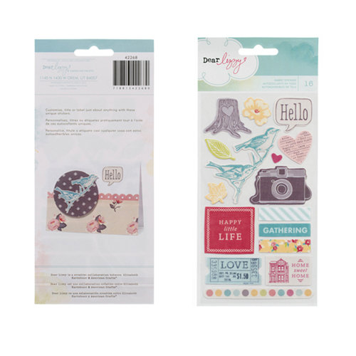 American Crafts - Dear Lizzy 5th and Frolic Collection - Remarks - Fabric Stickers