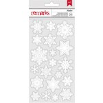 American Crafts - Be Merry Collection - Christmas - Snowflake Stickers - Iceplum
