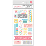 American Crafts - My Girl Collection - Remarks - Fabric Sticker Sheet - Soda Pop