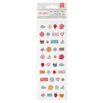 American Crafts - My Girl Collection - Remarks - Tiny Matte Puffy Stickers - Sugar