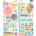 American Crafts - Amy Tangerine Collection - Yes, Please - Sticker Sheet - Organize