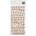 American Crafts - Dear Lizzy Lucky Charm Collection - Thickers - Foam - Charm - Oatmeal