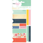 American Crafts - Dear Lizzy Lucky Charm Collection - Sticker Sheet - Flags and Labels