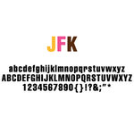 American Crafts - Remarks - Alphabet Stickers Book - JFK - Color Set 1 and 2
