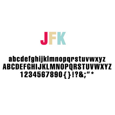 American Crafts - Remarks - Alphabet Stickers Book - JFK - Color Set 3 and 4, CLEARANCE