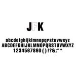 American Crafts - Remarks - Alphabet Stickers Book - JFK - Neutral 1, CLEARANCE