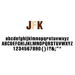 American Crafts - Remarks - Alphabet Stickers Book - JFK - Neutral 2, CLEARANCE