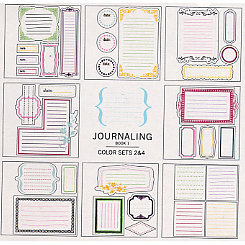 American Crafts - Remarks - Stickers Book - Journaling 1 - Color Sets 2 and 4