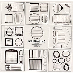 American Crafts - Remarks - Stickers Book - Journaling 2 - Brown